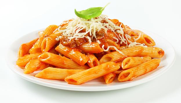 Teller mit Pasta
